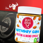 BuffBake BirthdayCake Buff Bake Birthday Cake Protein Almond Spread