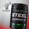 Steel Charged AF preworkout thelipoguy