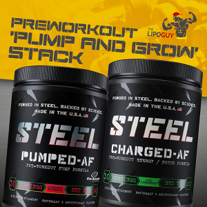 Steel Supplements Pumped-AF Steel Supplements Charged AF thelipoguy