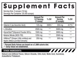arms race nutrition daily pump ingredients panel