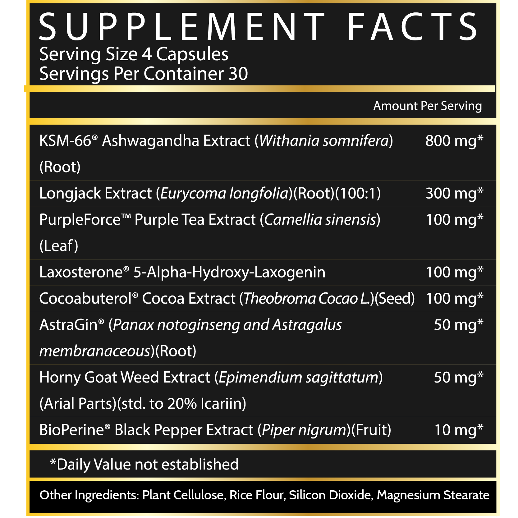 Inspired Nutra LGDN anabolic natural test booster ingredients